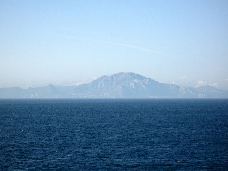 Mount Jebel Sidi Musa Africa ~ From Europa Point Gibralter